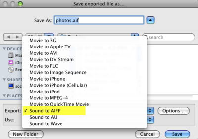 Convert M4P to MP3 with iMovie