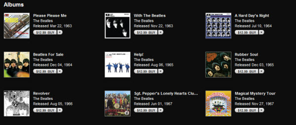 Convert iTunes Beatles Albums m4p to mp3 on Mac